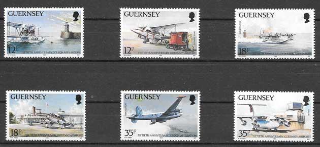 Sellos filatelia Servicio postal aéreo 1989