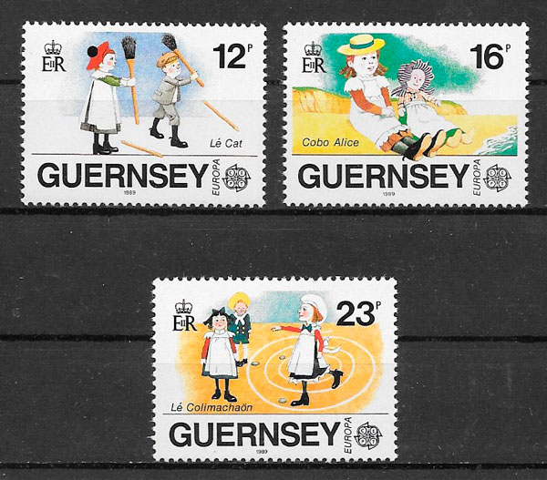 filatelia colección Europa 1989 Guernsey