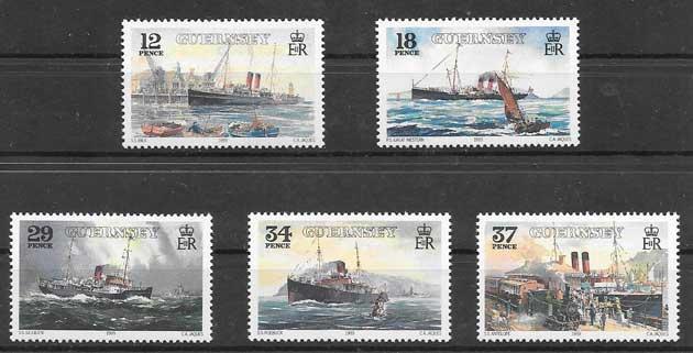 Sellos filatelia lineas marítimas 1989