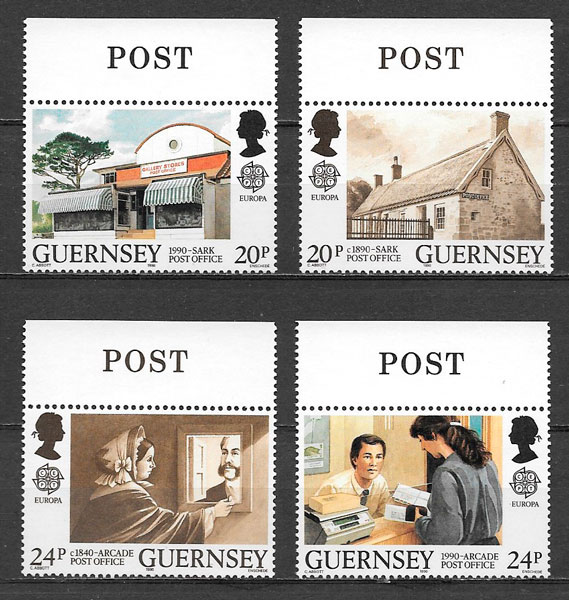 filatelia Europa Guernsey 1990