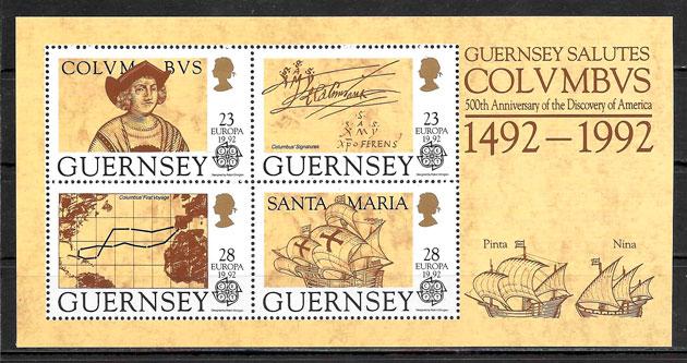 sellos europa Guersey 1992