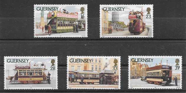 Filatelia sellos diversidad de tranvías 1992
