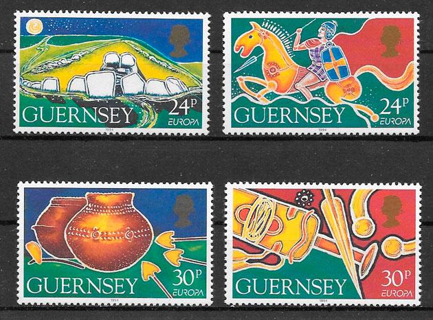 coleción sellos Europa Guernsey 1994