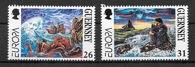 sellos Europa Guernsey 1997