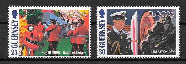 filatelia Europa Guernsey 1998