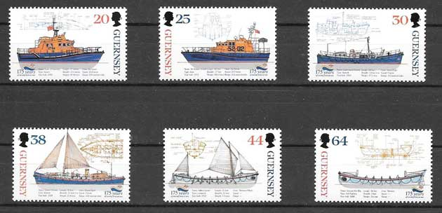 Sellos transporte marítimo Guersey 1999