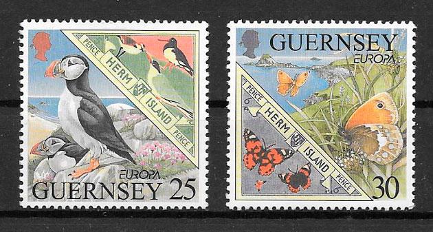filatelia colección Europa Guernsey 1999