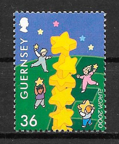 sellos Europa Guensey 2000
