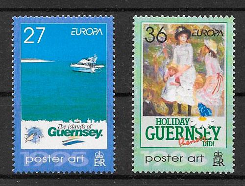 filatelia Europa Guernsey 2003
