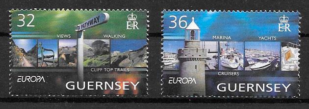 filatelia colección Europa Guernsey 2004