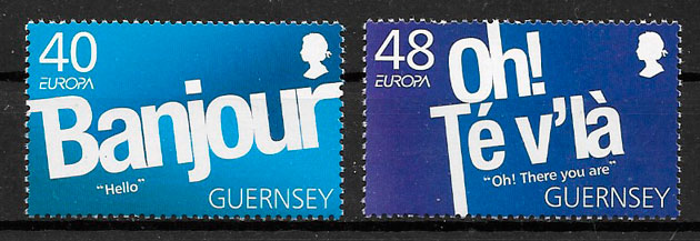 filatelia colección Europa 2008 Guernsey