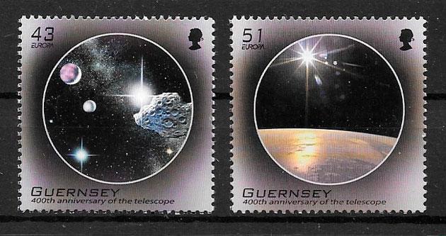 sellos Europa Guersey 2009