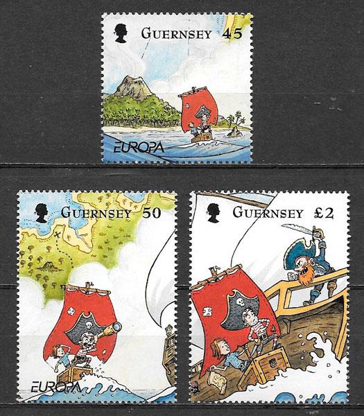 sellos Europa Guersey 2010