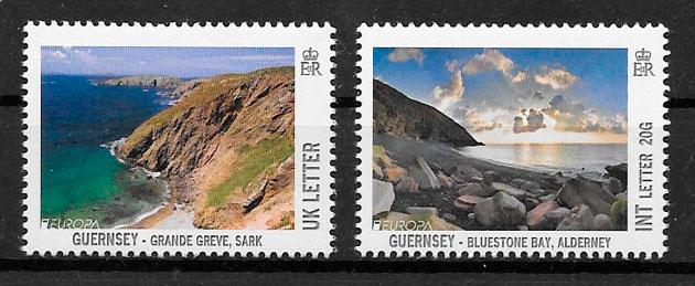 filatelia colección Europa Guernsey 2012