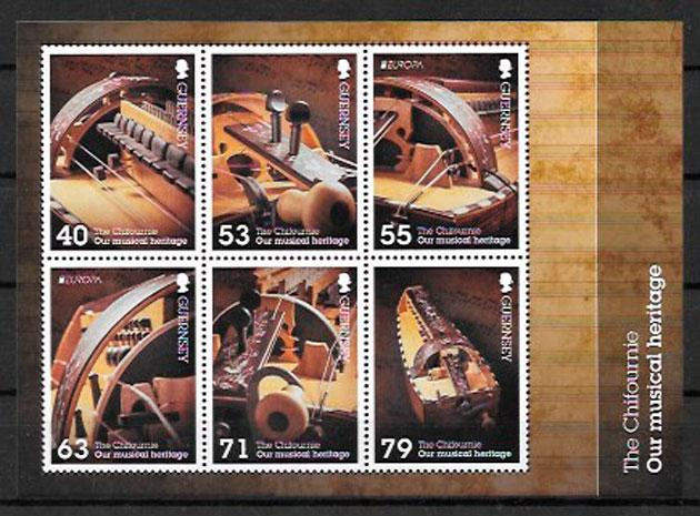 sellos Europa 2014 Guernsey