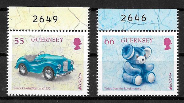 filatelia colección Europa Guernsey 2015