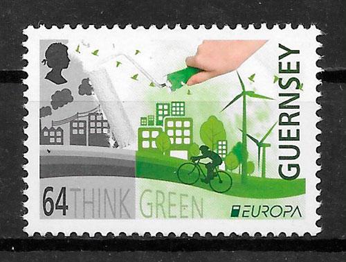 filatelia colección Europa Guernsey 2016