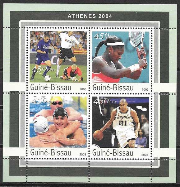 colección sellos deporte Guinea Bissau 2003