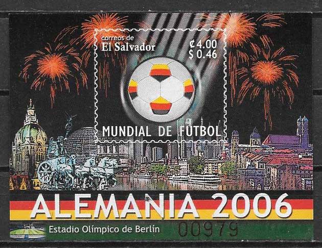 colección sellos deporte El Salvador 2006