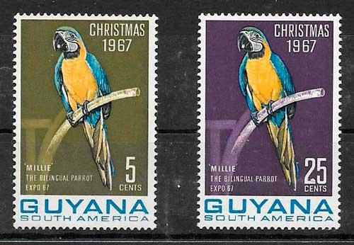 filatelia navidad Guyana 1967