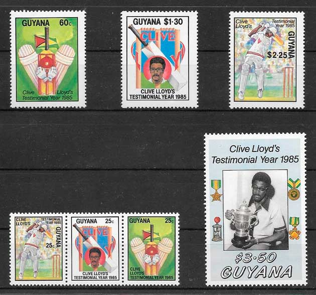 filatelia deporte Guyana 1985