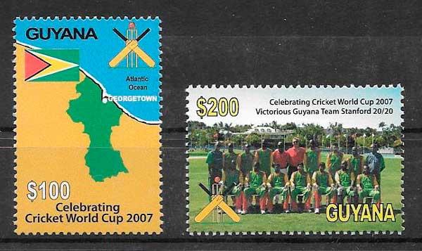 colección sellos deporte Guyana 2007
