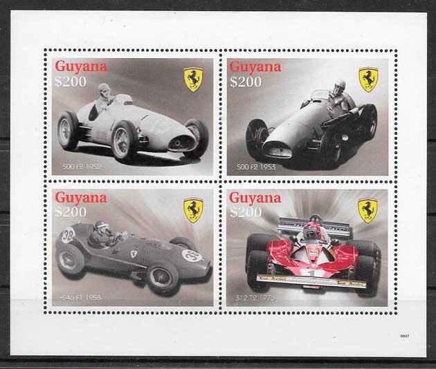 colección sellos deporte Guyana 2009