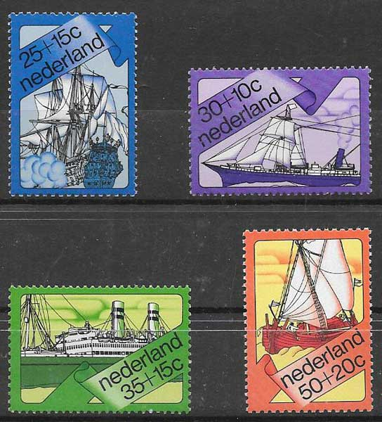 filatelia transporte Holanda 1973