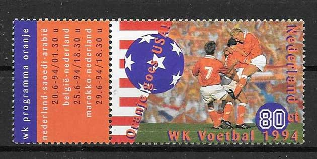 Filatelia fútbol Holanda 1994