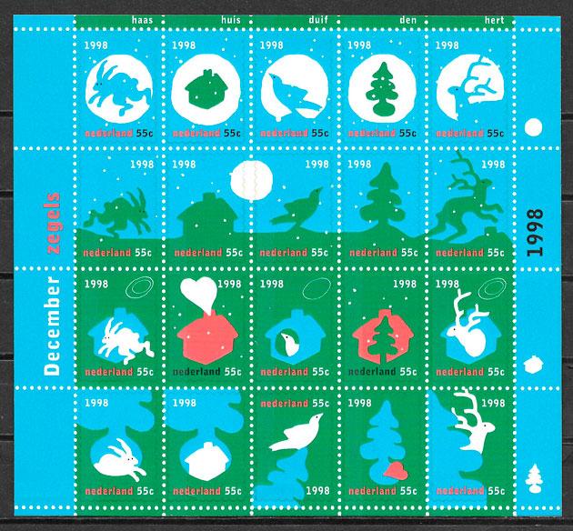filatelia navidad Holanda 1998