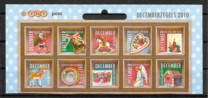 sellos navidad Holanda 2010