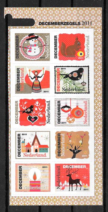 sellos navidad Holanda 2011