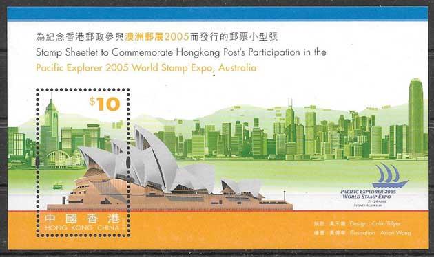 sellos filatelia arquitectura Hong Kong 2015
