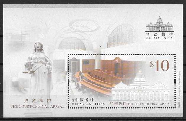 sellos filatelia Hong Kong Arquitectura 2015