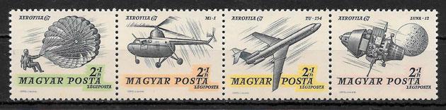 sellos transporte Hungría 1967