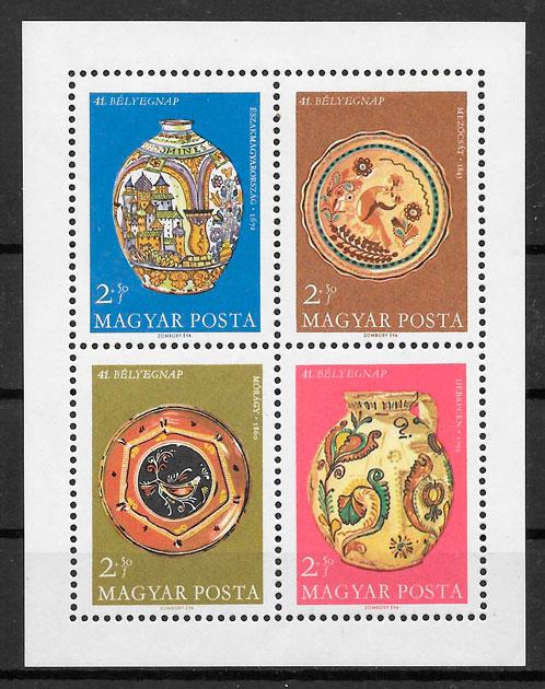 sellos arte Hungría 1968