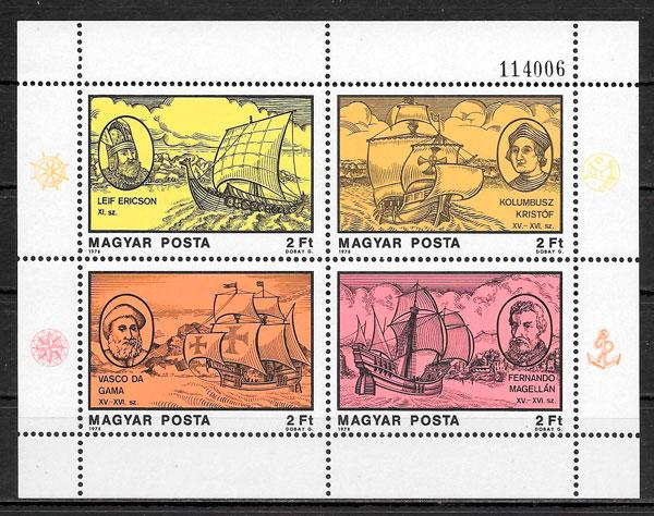 colección sellos personalidades Hungría 1978