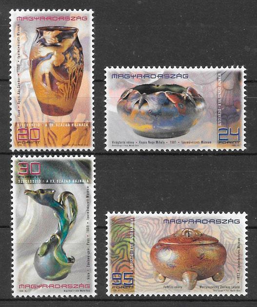 filatelia arte Hungría 1998