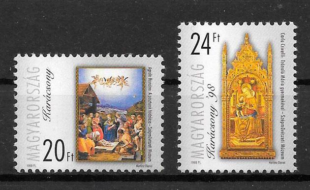 filatelia navidad Hungría 1998