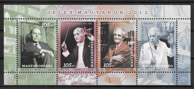 coleccion sellos personalidad Hungria 2011