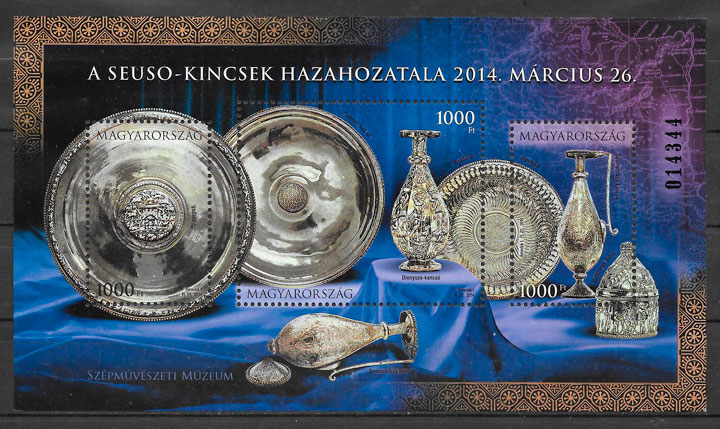 colección sellos arte Hungría 2014