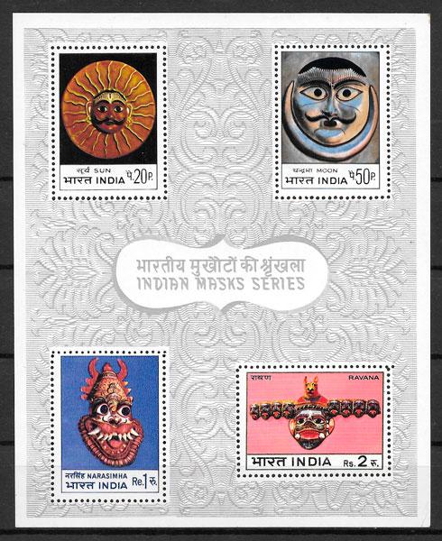 filatelia arte India 1974