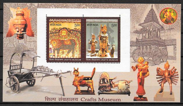 colección sellos arte India 2010