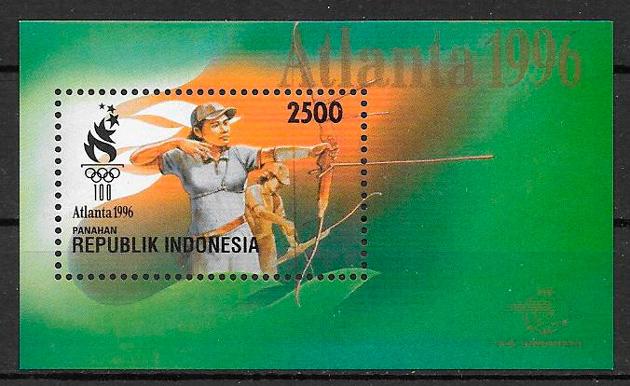 filatelia deporte Indonesia 1996