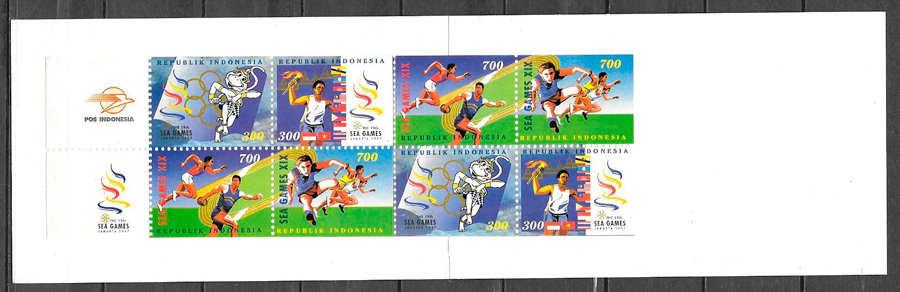 sellos deporte Indonesia 1997