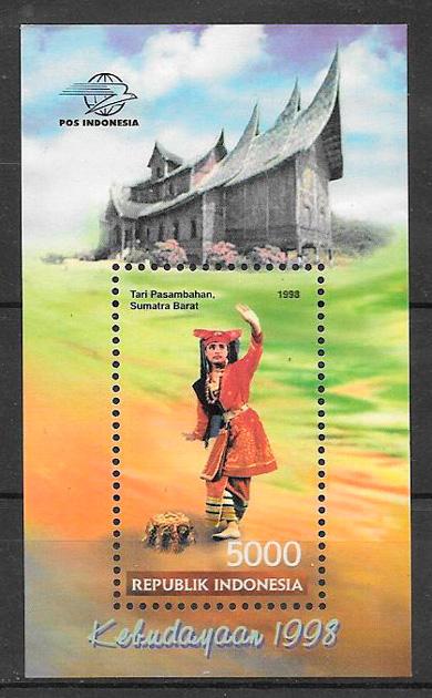 filatelia arte Indonesia 1998