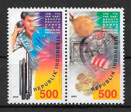 filatelia deporte Indonesia 1999