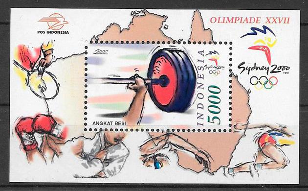 sellos deporte Indonesia 2000