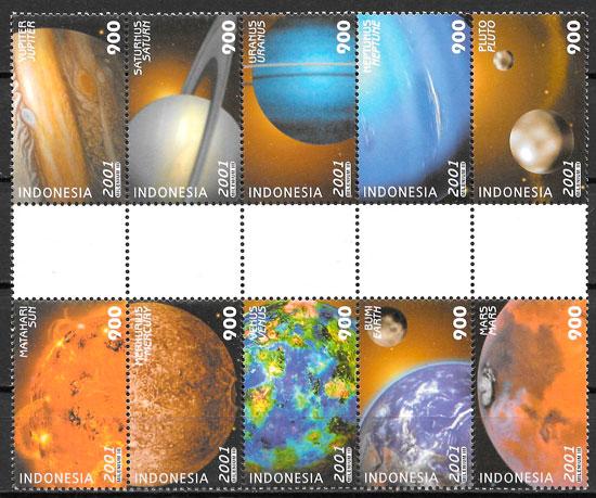 sellos espacio Indonesia 2001