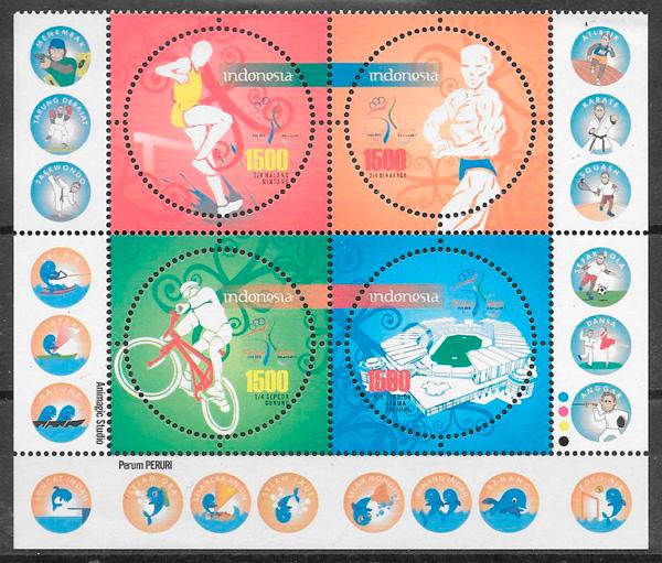 sellos deporte Indonesia 2008